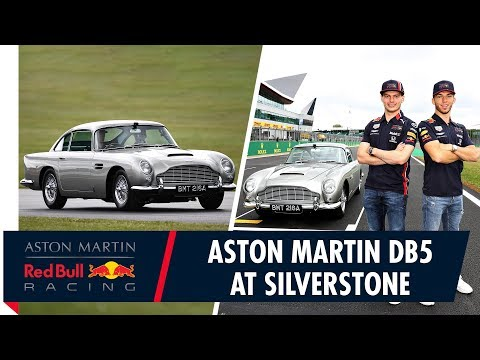 Aston Martin DB5 Silverstone | Max Verstappen and Pierre Gasly go for a lap