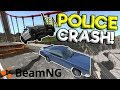 POLICE CHASES & CRASHES OVER BRIDGE & NEW MOD! - BeamNG Gameplay & Crashes - Cop Escape