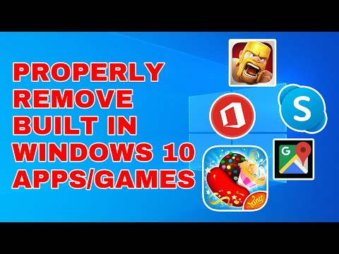 HOW TO DELETE UNNECESSARY APPLICATIONS IN WINDOWS 10 I MAKE WINDOWS FASTER!!!