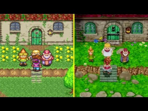 Secret of Mana PS4 Remake vs Original Graphics Comparison