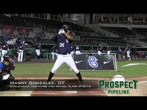 Manny Gonzalez prospect video, OF, Basilio Milan Hernandez High School Class of 2018