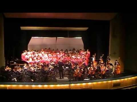 MHSA Orchestra and Choir performing Four Preludes by Geoffrey Gordon on 6-1-13