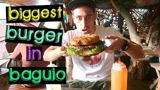 BIGGEST BURGER in Baguio EATING CHALLENGE | 700 GRAMS of BEEF!!!!