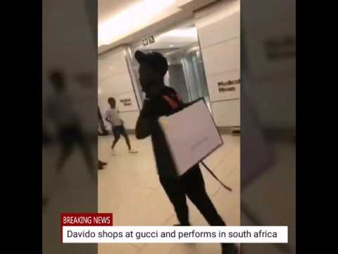 Davido shops at Gucci store and performs in South Africa