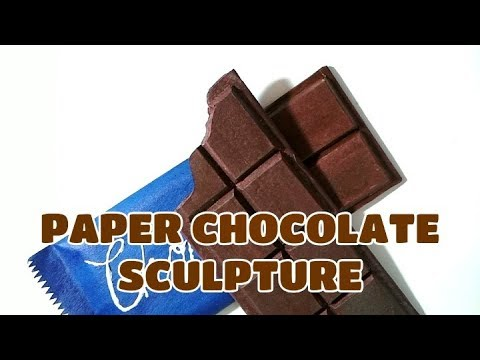 Paper Chocolate Sculpture | How to make a Paper Chocolate | DIY Paper Chocolate