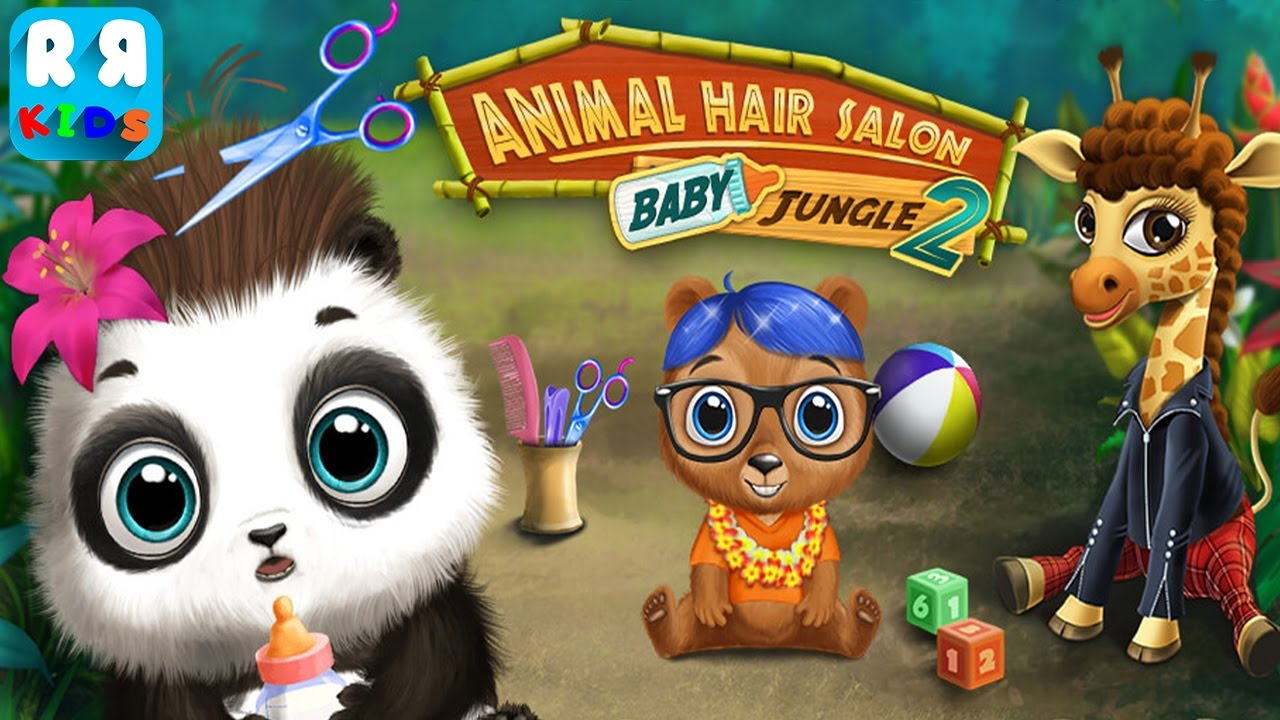 Baby Animal Hair Salon 2  Jungle Style Makeover By TutoTOONS  New Best Salon for Kids  YouTube