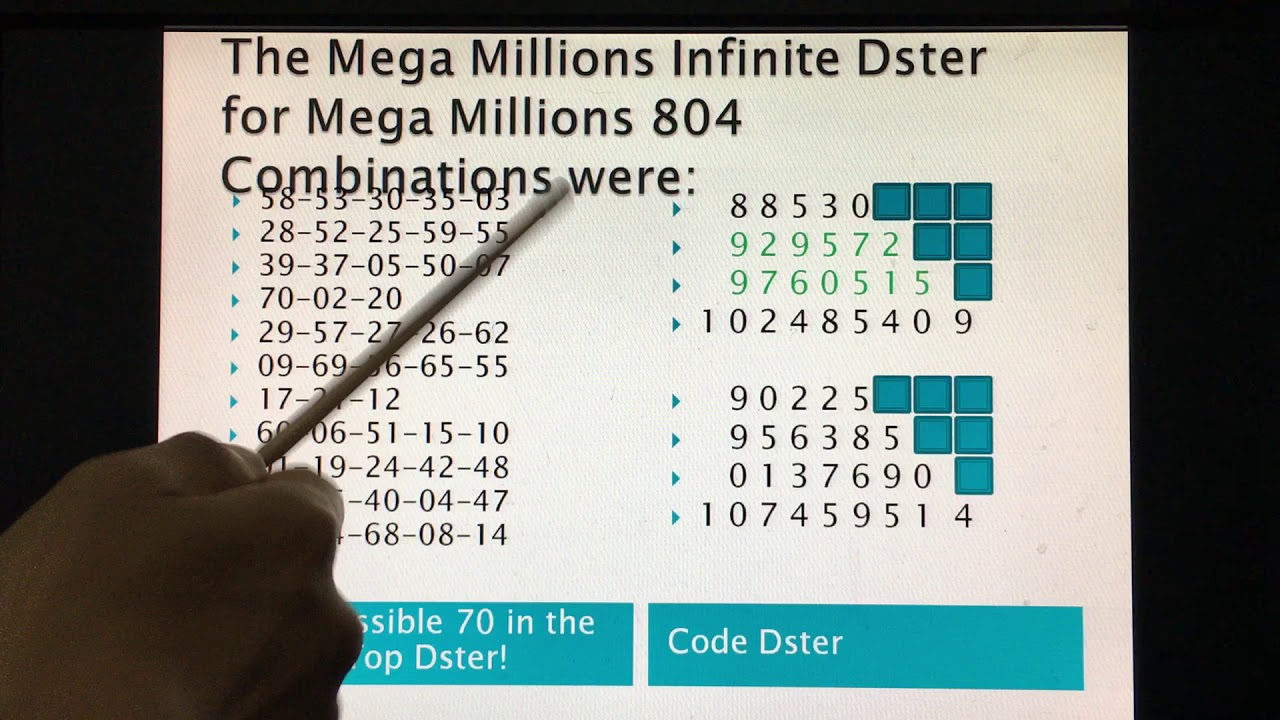 The Infinite Dster Breakdown of Combination using The Secret Mega Million Code!