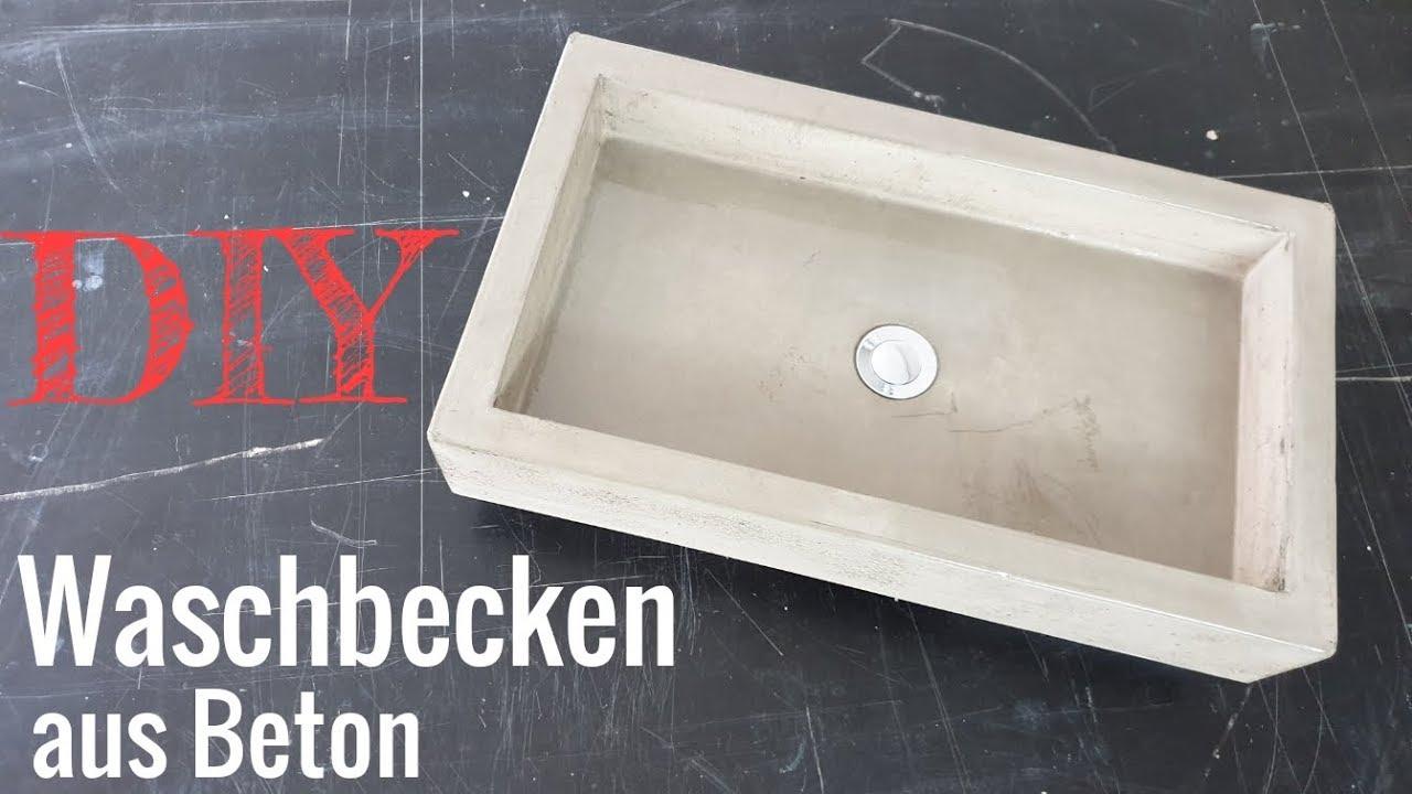 ein waschbecken aus beton betonwaschbecken selber bauen. Black Bedroom Furniture Sets. Home Design Ideas