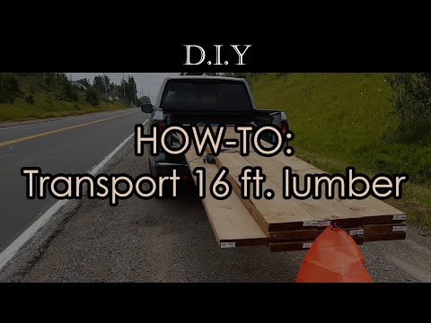 how-to-transport-16-feet-(2x10x16)-lumber-using-mid-size-pickup-truck?-+-world's-fastest-tie-down!