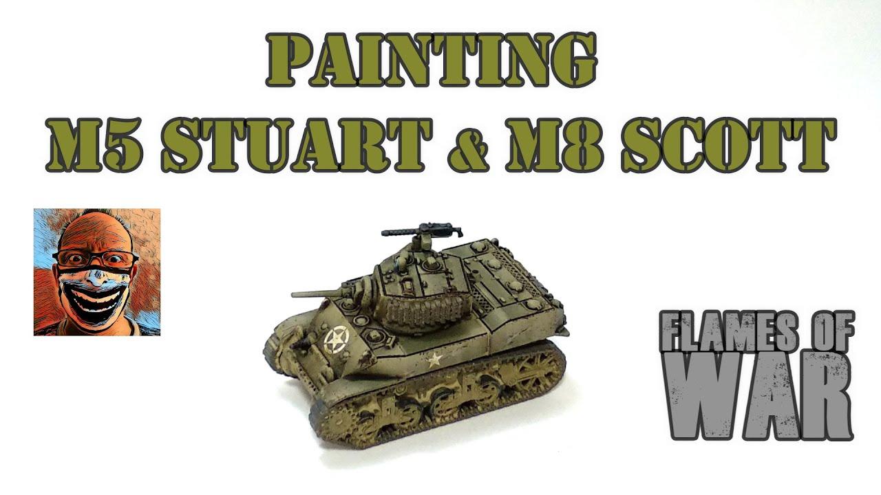 Download Painting M5 Stuart & M8 Scott. Flames of War