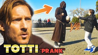 FRANCESCO TOTTI and FOOTWORK CAUSE PANIC in ROME WORN AS PRIESTS!!