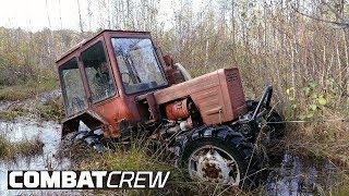 Турбо-трактор. Установка и испытания лебедки. Часть 5