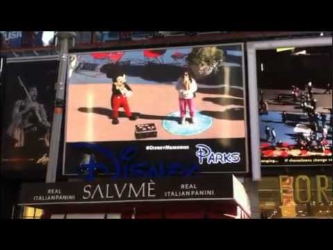 Times Square Augmented Reality with Disney Characters Brings Magic to New York City