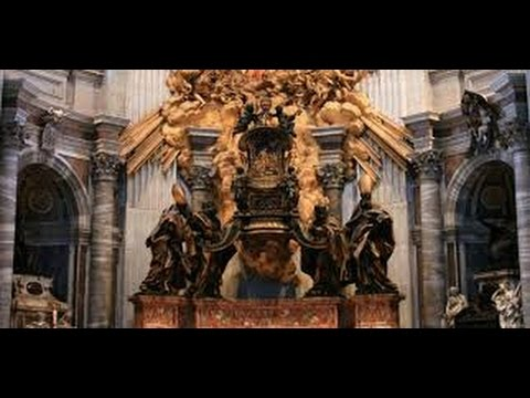 """Vatican Baphomet (Occult Goat Head); """"Chair of St. Peter"""" at St. Peter's Basilica"""