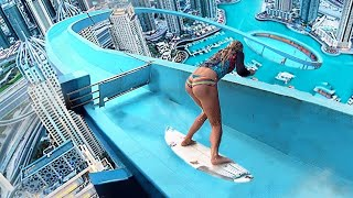 Top 10 MOST INSANE Waterslides YOU WON'T BELIEVE ACTUALLY EXIST!