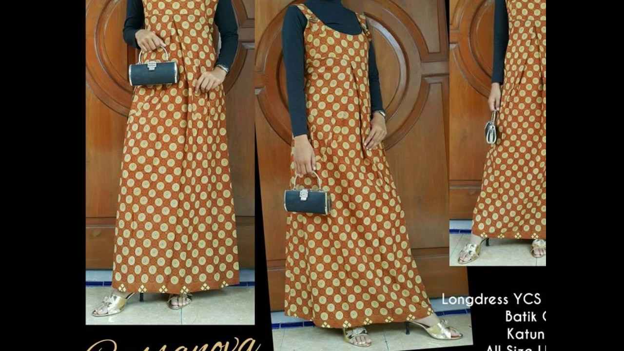 WA 8 8 8, Model Baju Batik Gamis Remaja Muslim Modern