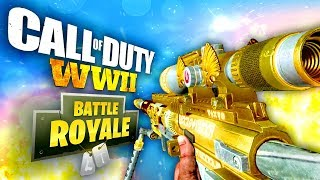 COD WW2 BATTLE ROYALE? Gameplay on New Fortnite: Battle Royale & PUBG Mode in China CODOL | SOLO WIN