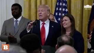Donald Trump Bids Farewell to Sarah Sanders