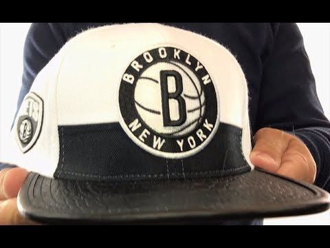 new product 583ca b59f9 Nets  HORIZON STRAPBACK  White-Black Hat by Pro Standard