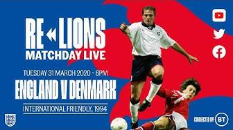 England 1-0 Denmark | Full Match | International Friendly 1994 | ReLions