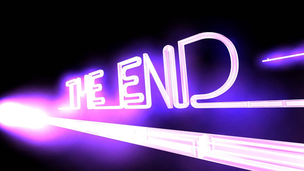 60Fps 4K Neon Lights THE END Title - YouTube