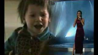 2 year-old performing Celine Dion