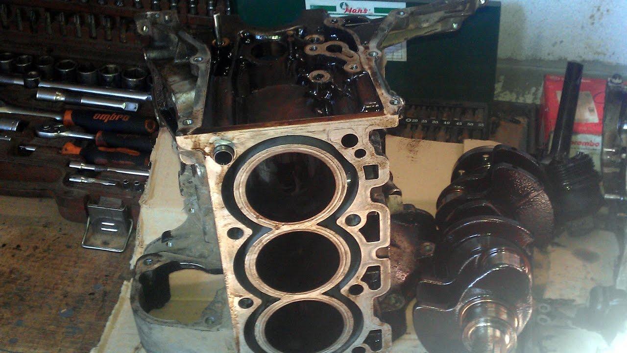 Капремонт разборка 3-х цилиндрового двигателя от Smart 600cc