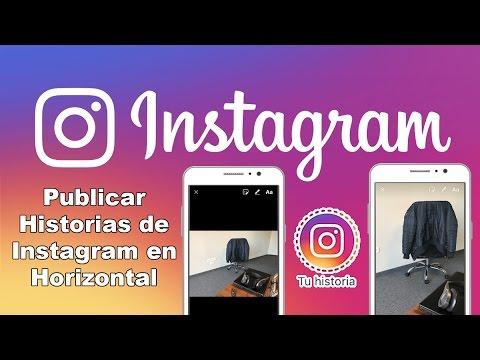 como subir fotos a historias de instagram en horizontal