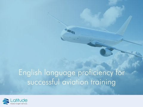 English language proficiency for successful aviation training