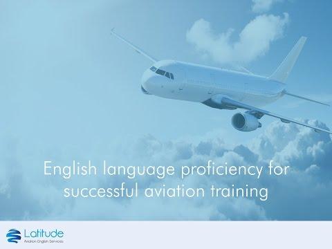 English language proficiency for successful aviation training