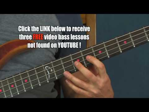 free  bass guitar lesson wipeout the surfaris