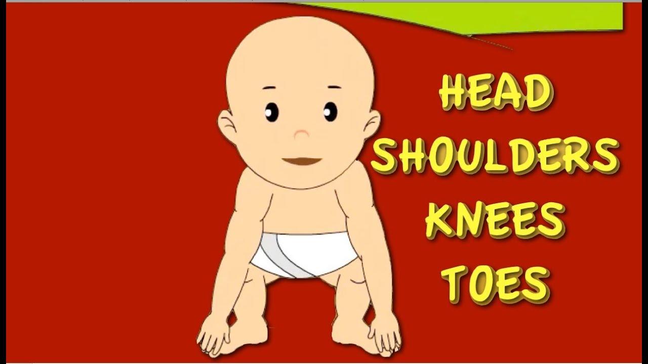head shoulders knees toes nursery rhyme cartoon animation songs children youtube