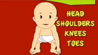 Head Shoulders Knees and Toes Nursery Rhyme | Cartoon Animation Songs For Children