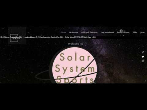 Solar System Sports Website + WIN an Xbox One (not joking)