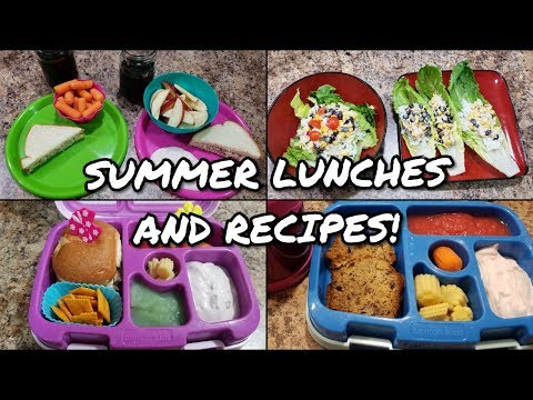 Easy Summer Lunches - Chicken Salad Recipe - Santa Fe Chicken Lettuce Wraps - Bento Lunches