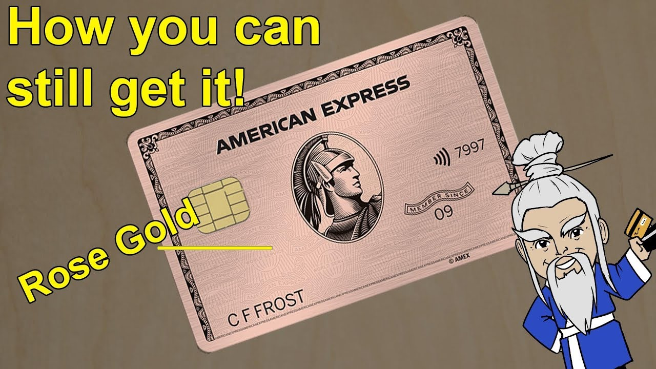 The Amex Rose Gold Card is Back - How to Get it...