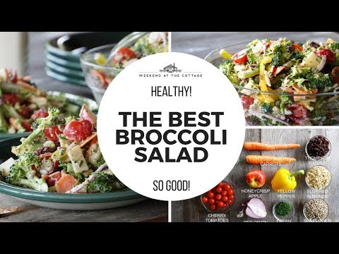 THE BEST BROCCOLI SALAD | Healthy! Crunchy! Vegetarian!