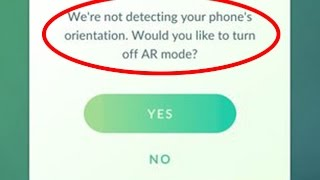 How to fix AR Camera not working error|Pokemon go
