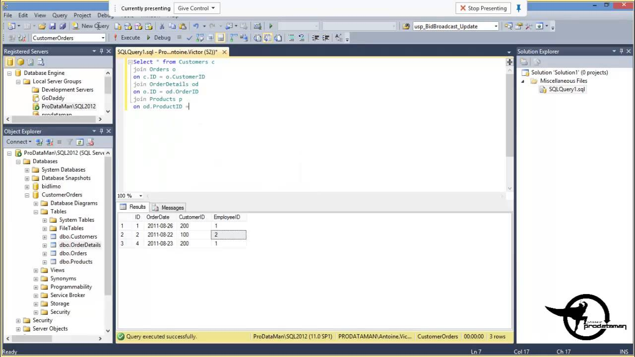 Create A Sql Server 2012 View In Ssms Sql Training Video Youtube