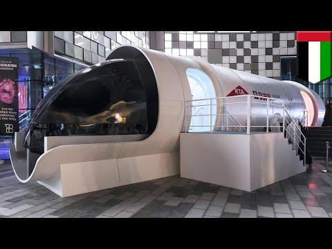Hyperloop Dubai: Virgin unveils Hyperloop One passenger pod in Dubai - TomoNews