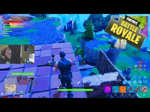INSANE MOUNTAIN BASE BATTLE! Flank n' Spank FTW! Fortnite Battle Royale Squads With Twitch Subs!