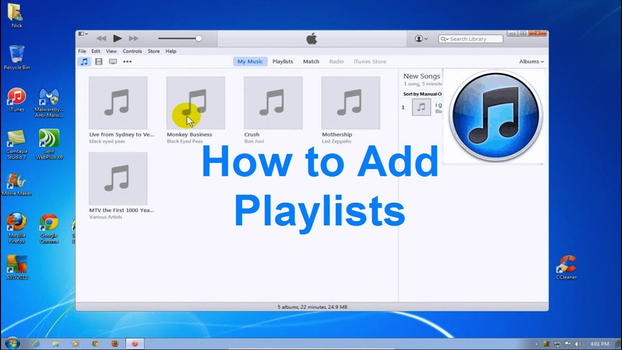 Free And Music Playlist: How To Create Playlists In ITunes 2015