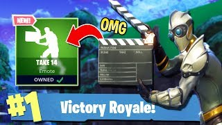 *NEW* FORTNITE BATTLE ROYALE TAKE 14 EMOTE! IS IT WORTH THE VBUCKS?