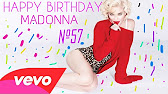 Cool madonna birthday greeting card youtube 213 bookmarktalkfo Image collections