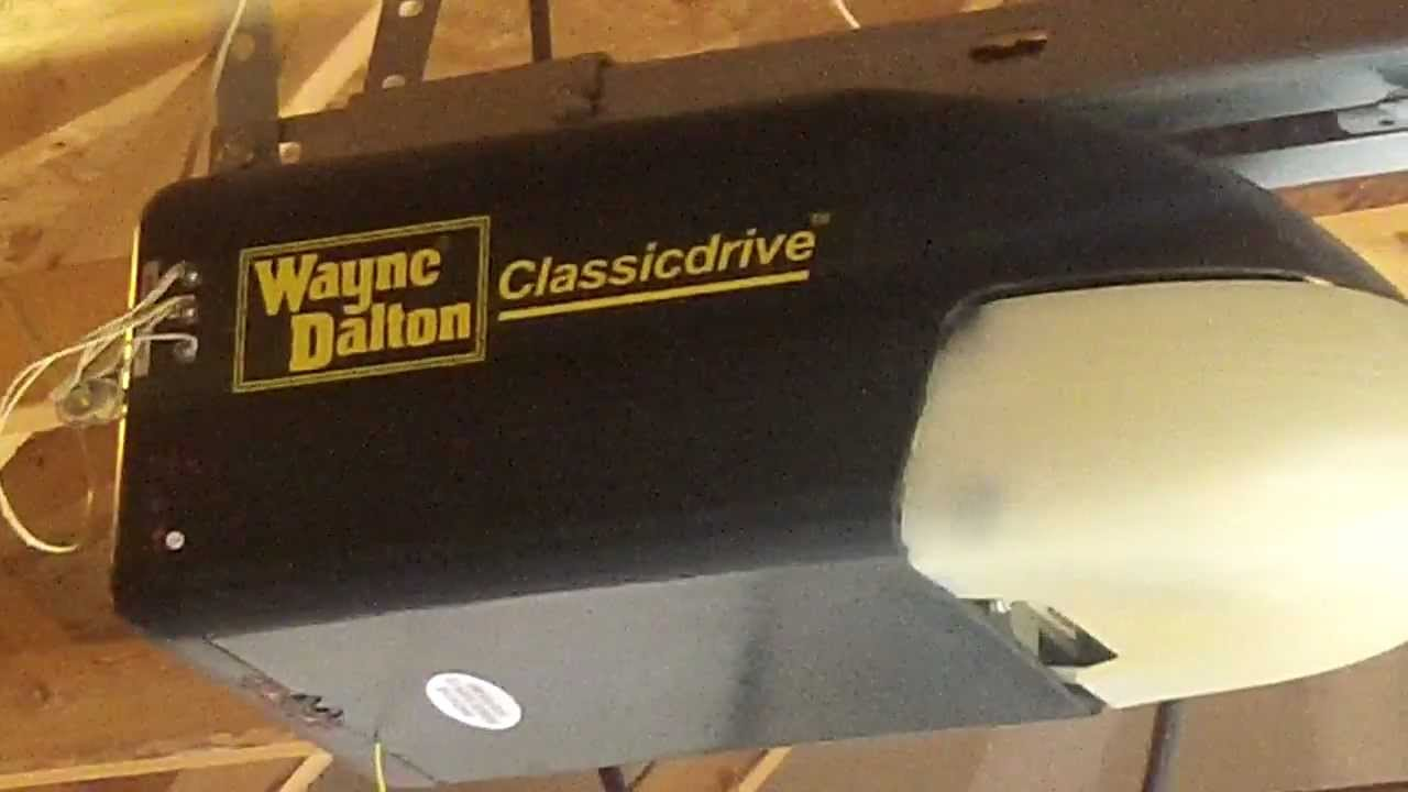hight resolution of a wayne dalton classic garage door opener aurora il piece of junk pt 2 youtube