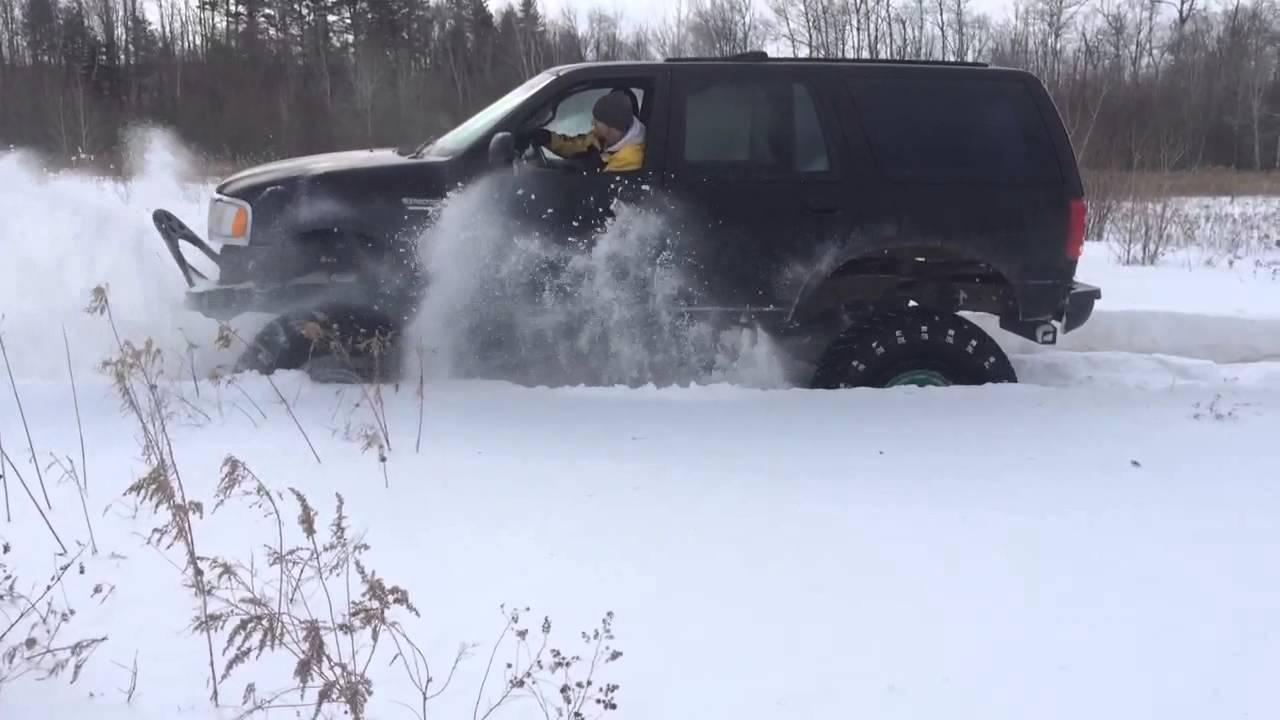 Lifted Ford Expedition >> Ford expedition lifted deep snow 4x4 baja claws 46 ...