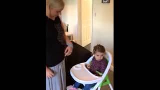 Stroke survivor's how-to: putting a baby in a highchair Thumbnail