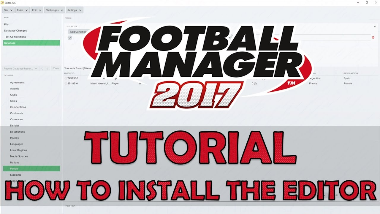 football manager 2017 editor free download
