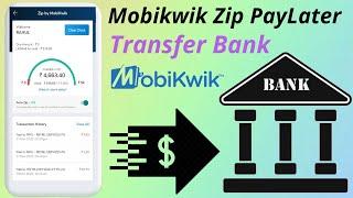 Transfer Mobikwik PayLater Balance Your Bank Account screenshot 5