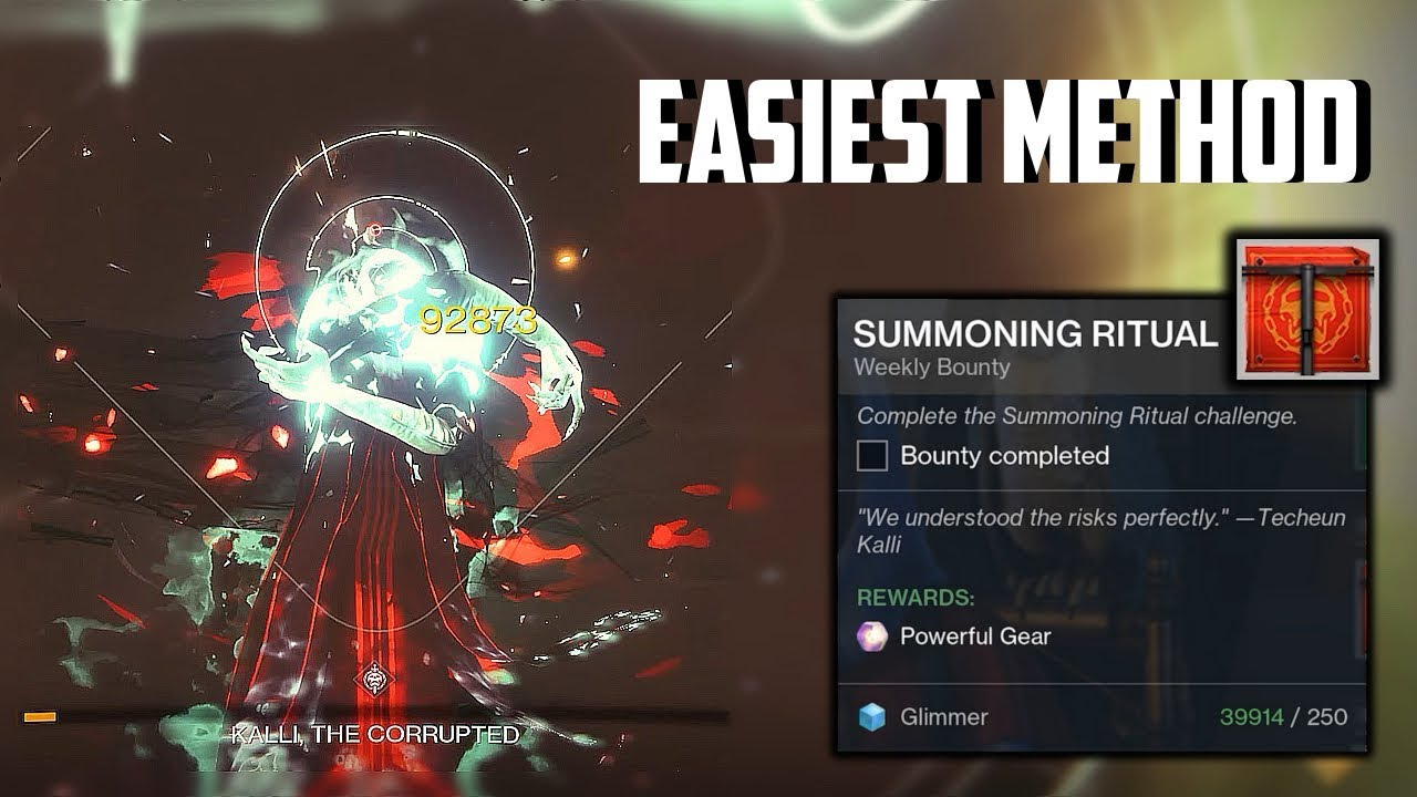 Destiny 2 - Summoning Ritual Challenge Full Guide for Clan Powerful Gear  (Easiest Method Period)